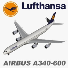 airbus a340-600 lufthansa 340 600  a340 air airbus aircraft airliner airplane airport airways civilian commercial egpjet3d game jet jumbo lufthansa model passenger plane realistic sim super transport