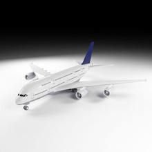airbus a380 a380 airbus aircraft airline airliner airplane airways civilian commercial model pashok3d plane