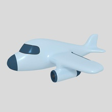 aircraft toy plane v2 aircraft aircraft toy plane airplane cargo cartoon cartoonish fun funny game jet kid lower model ocstard plane poly private round styled symbole toon toy v2 vehicle