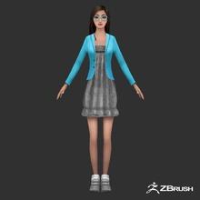 anime personnage féminin 3d l'anime asiatiques bklidi caractère le chinois la femelle jeu jeune fille de l'homme dame bas le manga de modèle poly écolière femme