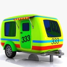 cartoon caravan 1 1 auto caravan vettore cart cartone animato gioco pesante vacanza modello offroad push carretto semi estate toon giocattolo tracktor trailer camion up di vacanza van il veicolo virtualhorizonstudio la ruota