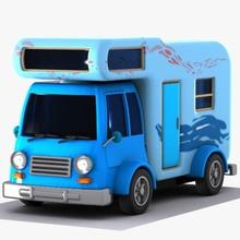 cartoon caravan 2 2 auto caravan vettore cart cartone animato gioco pesante vacanza modello offroad push carretto semi estate toon giocattolo tracktor trailer camion up di vacanza van il veicolo virtualhorizonstudio la ruota