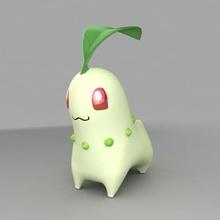 chikorita animal el anime la ceniza de dibujos animados carácter chikorita criaturas lindo kid lone modelo monster pikachu de la planta de bolsillo pokemon lobo