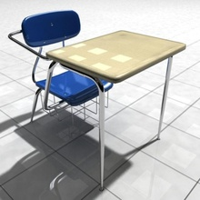 classroom desk cgartist314 chair child classroom desk furnishings furniture room student study table