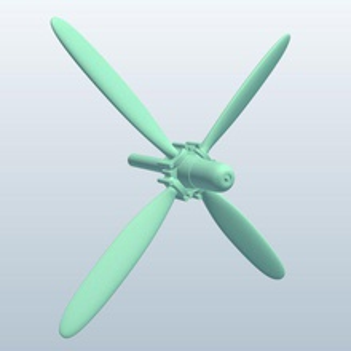 corsair f4u propeller v1 corsair f4u propeller vehicle parts printable lowpoly vehicle parts