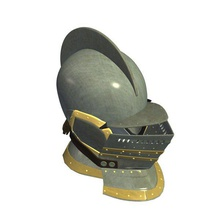 european closed helmet v1 european closed helmet weapons  armor printable lowpoly weapons armor