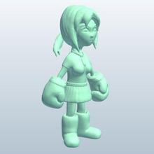 fig boxerschoolgirl v1 écolière boxer figurine personnes fig boxerschoolgirl imprimable lowpoly