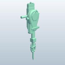 gas demolition hammer breaker v1 gas demolition hammer breaker tools  equipment printable lowpoly tools equipment
