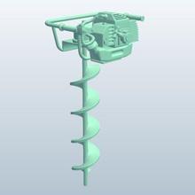 gas ground auger drill v1 gas ground auger drill tools  equipment printable lowpoly tools equipment
