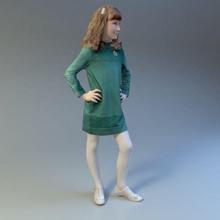 Mädchen 3d  Anatomie Körper buss die Büste Charakter Kind Kleidung Farbe Ohr Gesicht weiblich voll Mädchen Kopf Mensch Kind Modell Hals Nase peoplescan gestellt realistisch sind scan scienarts Frau zbrush