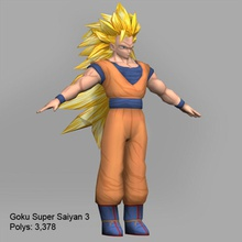 goku super saiyan 3 3 3d alien anime artpinoy body cartoon character collection dragonball dragonballz full game goku guys hero human lower male man model ninja poly powerful saiyan super