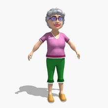 grandma am baba cartoon character female gammy girl gramma grams gran grandma grandmom grandmother grandparent granny gryaznoff human lady lower ma madam mamaw model nanna nanny old poly woman