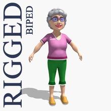 grandma am baba cartoon character female gammy girl gramma grams gran grandma grandmom grandmother grandparent granny gryaznoff human lady lower ma madam mamaw model nanna nanny old poly rig woman