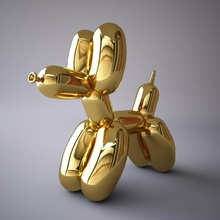 jeff koons balloon dog 3ds animal architecture balloon chrome collection dog elements gold inflatable jeff koons mali222 max model obj statue vray