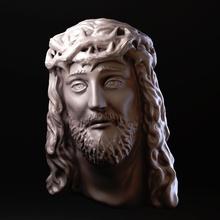 jesus face 3d amaf bible character christ face god guys holy human jesus jewelry male man model pendant prints sculpture