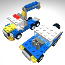 lego engineering truck assembled brick building collection connecting created engineer game heavy jeep kid lego machine mini model peaka plastic playing semi technical toy traffic truck vehicle