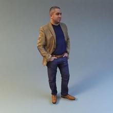 Mann 02 3d-scan 3d  Anatomie Körper Geschäftsmann buss die Büste Charakter Kleidung Farbe Ohr Gesicht voll Jungs Kopf Mensch Männlich Mann Mann 02 3d-scan Modell Hals Nase peoplescan gestellt realistisch sind scan scienarts zbrush