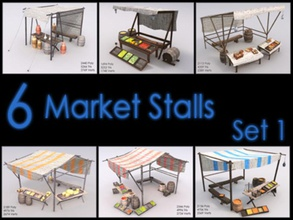 market stall set low poly textured architecture buy city collection environments fruit game historical lower market marketplace medieval model poly pot raahl ready real sell set stall store structure texture time ton town trade vehicle ware
