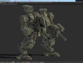 robot Savaşı 3d karakter tasarım gelecek oyun gen silah daha düşük göster max mech mecha model gelecek normal poly poligonal robot scifi asker tank savaş savaşçı silah