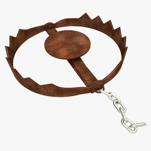 rusty bear trap 3d 3ds accessor animal bear cercle chain fall forest furnishings jaws jungle metal model murder newlc old orror ours piege pitfall rouille rusty saw thriller trap vintage vray