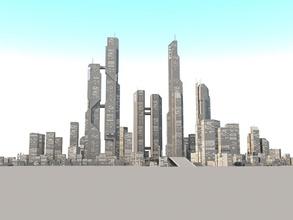 sc city 01 architecture building city fantastic fantasy fi futuristic game glaz3d industrial lower model poly sc city 01 sci scifi scyscaper skyscraper space structure