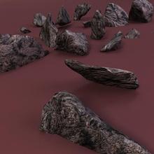 in frantumi rocce taglienti architettura boulder terra bordo elementi terra paesaggio il calcare in muratura minerale modello naturale natura la pianta fiume rock sharp in frantumi la pietra stream vital3d