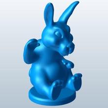 sitting waving v2 bunny waving seasonal sitting printable lowpoly