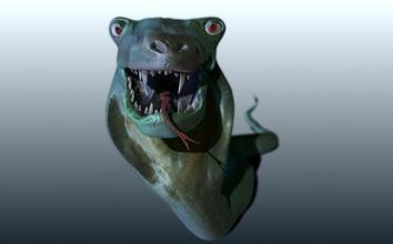 yılan - lenny yılan hayvan çizgi film karikatürize karakter lenny model okyanus çıngıraklı yılan sürüngenler korkutucu yılan swpp  su