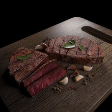 tasty steak beef cooked ddd artist delicious food kitchen meat model raw sirloin steak tasty