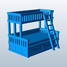 twin over full bunk bed v1 twin over full bunk bed furniture v1 printable lowpoly