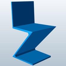 zig zag chair v1 zigzag chair furniture zig zag printable lowpoly