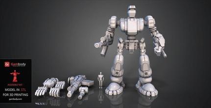 1 100 scale defender mk1 kit assembly 3d print defender mk1 3d model, download defender mk1 stl files, download defender mk1 3D printing files, buy defender mk1 build, mk1 defender for 3D printing purchase, defender mk1 for sale, mech, mechwarrior, robot, robots