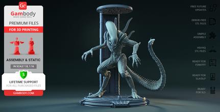 alieno Camera 3d stampa figurina assemblaggio alieno avp patto alieno in Camera alieno in tossico Camera alieno xenomorfo Prometeo scifi ellen Ripley Regina extraterrestre facehugger ovomorfo