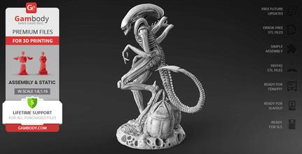 alien xenomorph 3d printing figurine assembly alien, xenomorph, predator, proteus, yautja, ovomorph, alien vs predator, xx121, prime, queen, facehugger, prometheus, alien figurine, alien model, alien miniature, alien figure, 3d model, 3d printing, stl files, horror
