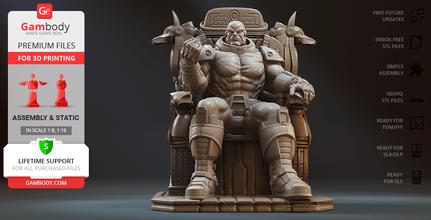 apocalypse trône 3d impression figurine Assemblée apocalypse men merveille bandes dessinées vient livre mutant super héros surhumain scélérat supervillain apocalypse trône sabah ÉGYPTIEN égyptien trône