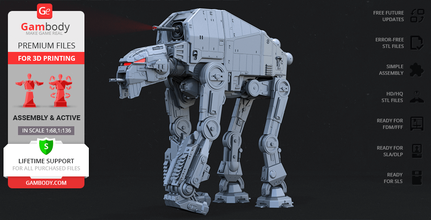 at-m6 walker 3d printing model assembly at-m6, all terrain megacaliber six, gorilla walker, first order heavy assault walker, empire, galactic empire, star wars, the last jedi, new republic, first order, at-at, crait, kuat-entralla drive yards, robot, robots, at-m6 model, at-m6 figure, at-m6 figurine, at-m6 miniature, 3d printing, stl files, vehicles