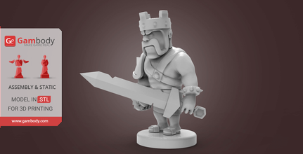 barbarian king 3d printing model assembly clash of clans, clash of clans free game, clash of clans online, clash of clans for pc, cartoon, cartoons, a clash of clans, clash of clans on pc, clash of clans barbarian king, barbarian king, clash of clans barbarian king level 45, the barbarian king, 3d printing, stl files, barbarian king 3d print, barbarian king model, model for 3d printing, buy model for 3d printer