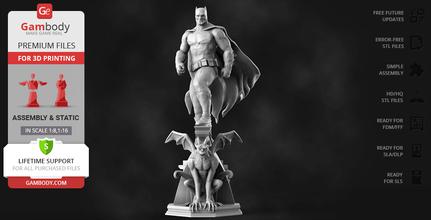 batman - dawn justice 3d printing figurine assembly bvs, batman vs superman, dawn of justice, batman, statue, batman 3d miniature, batman 3d, batman model, batman dc, dc, dc comics, league of justice, dc hero, dc movie, defender of gotham, comics, batman figure, batman figurine, batman miniature, batman model 3d printing, stl files
