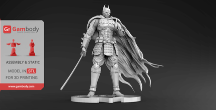 batman ninja 3d printing miniature assembly batman, batman ninja, statue, batman, batman 3d miniature, batman 3d, batman model, batman dc, dc, dc comics, league of justice, dc hero, dc movie, batman 3d model, batman 3d download, batman 3D figure, defender of gotham, feudal japan, new anime, anime, comics