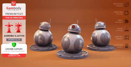 bb-8 3d printing model assembly + action bb-8 droid, bb-8, bb8, astromech, astromech droid, bb, the resistance, poe dameron, x-wing, assembly, action, robot, droid, mech, star wars, lucasfilm, sw, bb8 figure, bb8 figurine, bb8 model, bb8 miniature, bb-8 figure, bb-8 figurine, bb-8 model, bb-8 miniature, bb-8 droid figure, bb-8 droid figurine, bb-8 droid model, bb-8 droid miniature, 3d printing, stl files