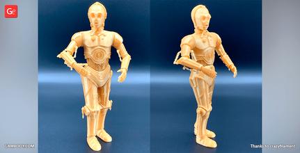 c-3po 3d printing figurine assembly c-3po, c3po, robot, droid, star wars, tatooine, darth vader, see-threepio, r2-d2,  anakin skywalker, c-3po figure, c-3po figurine, c-3po model, c-3po miniature, 3d printing, stl files