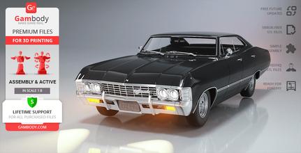 chevrolet impala ss 1967 3d printing model assembly + action chevrolet impala ss 1967, chevrolet impala, the impala, impala, dean winchester, winchesters, baby, action, tv series, assembly, vehicle, car, jensen ackles, supernatural, the impala model, the impala figurine, the impala miniature, the impala figure, winchester's impala model, winchester's impala figurine, winchester's impala miniature, winchester's impala figure, chevrolet impala model, chevrolet impala figurine, chevrolet impala miniature, chevrolet impala figure, 3d printing, stl files