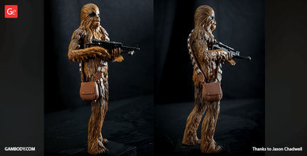 chewbacca 3d printing miniature assembly star wars, star wars 8, star wars episode 8, new star wars, star wars chewbacca, star wars episode VII, star wars characters, star wars games, new star wars movie, star wars movies, new star wars, chewbacca, wookiee, stl, stl files, 3d printing, files for 3d printing, model, 3d model, 3d printing miniature
