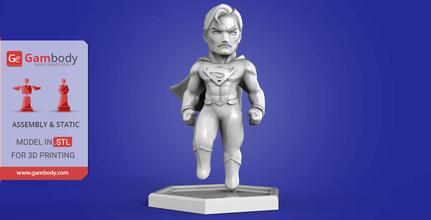 chibi superman 3d printing miniature assembly superman, superman 3d miniature, superman 3d, superman dc, dc, dc comics, league of justice, dc hero, dc movie, superman 3d model, superman 3d download, superman 3D figure, chibi superman, chibi, comics