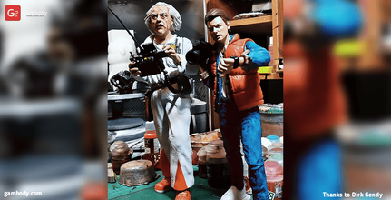 doc brown 3d printing figurine assembly doc, emmett, brown, doctor, science, marty, mcfly, back to the future, movie, icon, pop culture, delorean, dmc-12, mcfly, clara, scientist, time travel, emmett brown figurine, emmett brown model, emmett brown miniature, emmett brown figure, 3d printing, stl files, diorama
