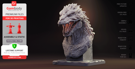 godzilla 2000 bust 3d printing figurine assembly godzilla 2000, g-2000, bust, king, king of the monsters, godzilla bust, g-2000 bust, dopepope, creature, kaiju, powerful, reptile, beast, bust, icon, movies, monster, 2000, millennium, millennium era, dp, godzilla 2000 bust figure, godzilla 2000 bust figurine, godzilla 2000 bust model, godzilla 2000 bust miniature, godzilla 2000 figure, godzilla 2000 figurine, godzilla 2000 model, godzilla 2000 figure, godzilla 2000 miniature, g-2000 figure, g-2000 figurine, g-2000 miniaturę, g-2000 model, 3d printing, stl files, bust