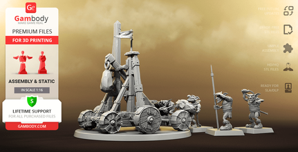 greenskins catapult 3d printing miniatures assembly warhammer, war, siege, weapon, catapult, medieval, warcraft, board game, army, fantasy, universe, fantasy, fiction, warhammer, orkoid, greenskin, rockslauncher, creature, concept, wild, unit, goblin, orc, elf, goblin, orcs & goblins, board game, hobby, tabletop, greenskins catapult figure, greenskins, catapult figurine, greenskins catapult model, greenskins catapult miniature, 3d printing, stl files