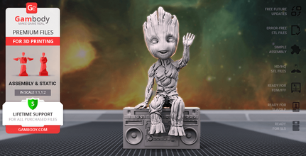 hello groot 3d printing figurine assembly groot, flora colossus, avengers, baby groot, guardians of the galaxy, marvel, comics, mcu, tree, little tree, mascot, groot figure, groot figurine, groot model, groot miniature, baby groot figure, baby groot figurine, baby groot model, baby groot miniature, 3d printing, stl files