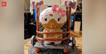 hello hannibal kitty 3d printing miniature assembly hello kitty, hannibal, cute, japan, anime, fan work, hello kitty figure, hello kitty model, hello kitty figurine, hello kitty miniature, 3d printing, stl files, horror
