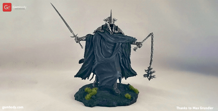 lord nazgul 3d printing figurine assembly witch, king, angmar, lord of the rings, lotr, witch king of angmar, nazgul, human, black rider, lord of the nazgul, sauron, witch king figure, witch king figurine, witch king model, witch king miniature, 3d printing, stl files, diorama